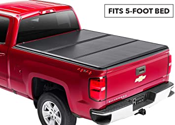 Amazon Com Rugged Liner Premium Hard Folding Truck Bed Tonneau Cover Hc Cc504 Fits 04 14 Chevy Colorado Gmc Canyon 5ft 5 Bed Automotive