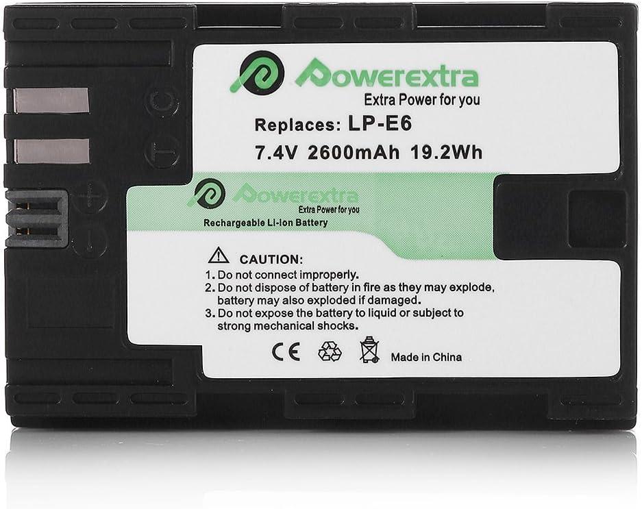 Powerextra 2 Stück Ersatzakku Für Canon Lp E6 Zu Canon Elektronik