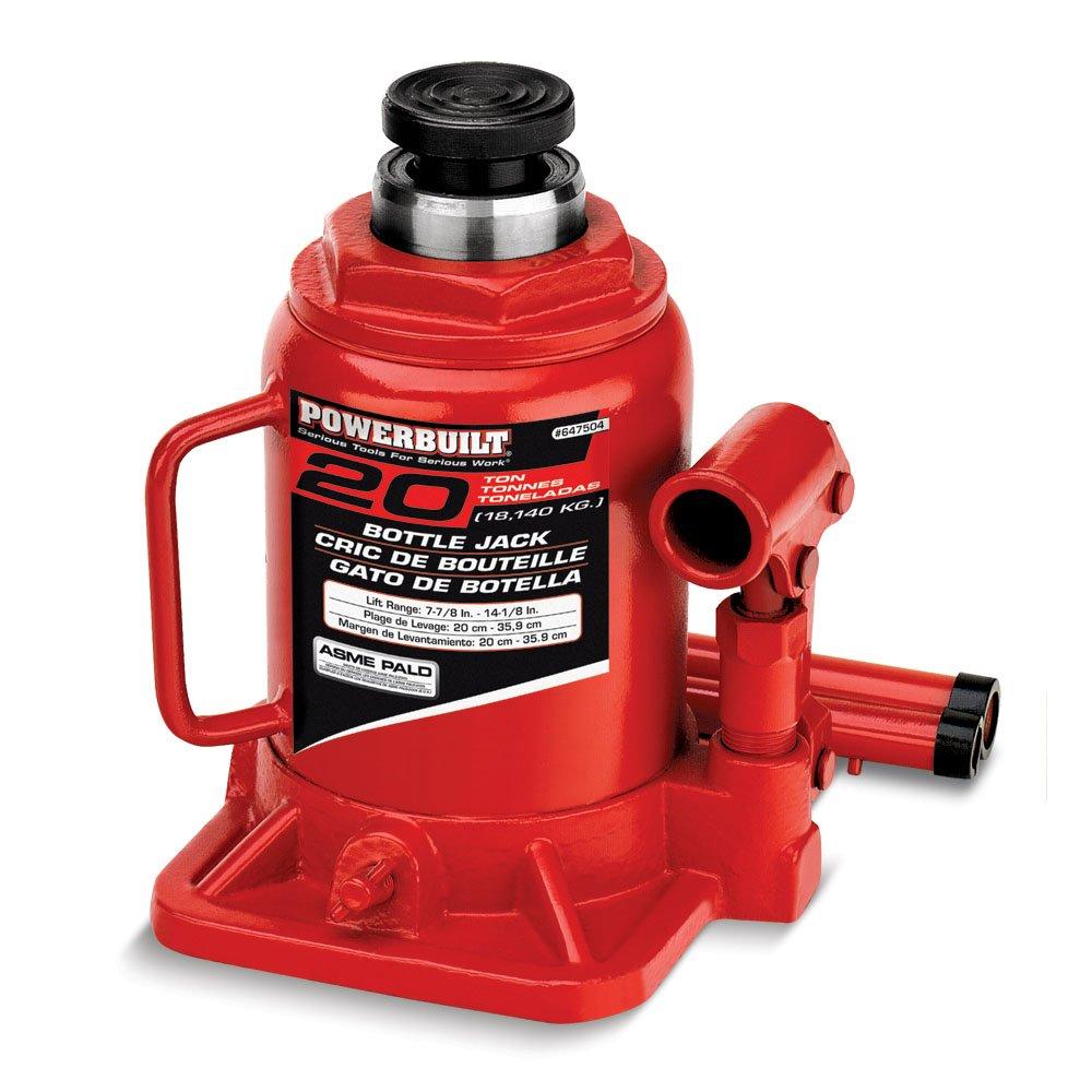 Alltrade Powerbuilt 647504 Heavy Duty 20-Ton Shorty Bottle Jack