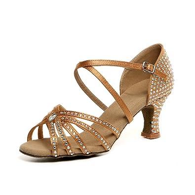 Frühling und Sommer Diamant Tanzschuhe Damen/Latin Dance Damenschuhe/ die Show-Schuhe-D Fußlänge=23.8CM(9.4Inch) aSBlifm6X