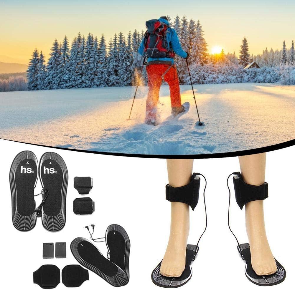 senderismo Plantillas calefactables recargables con bater/ía de 4.5V acampada calentadores de pies para hombres y mujeres suelas t/érmicas botas de caza de invierno zapatillas de deporte para pesca