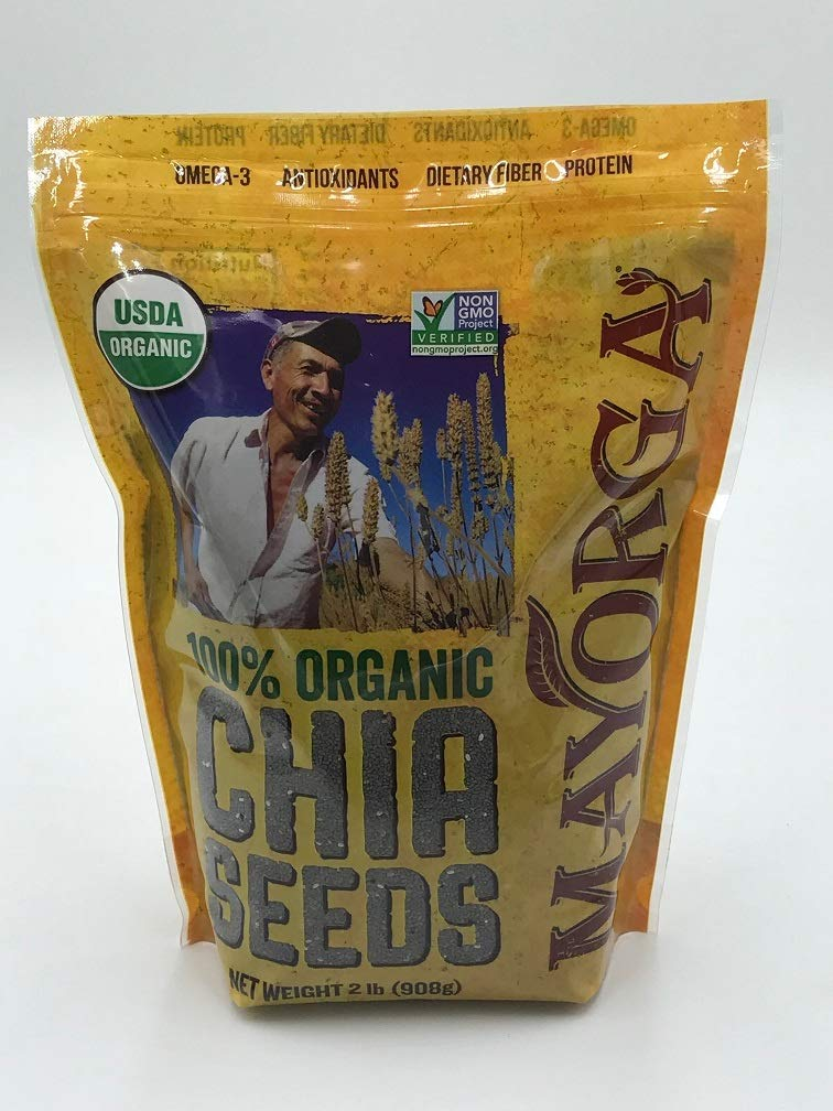 Mayorga Organics Chia, 2 lb resealable bag, 100% USDA Organic Certified, Non-GMO, Direct Trade