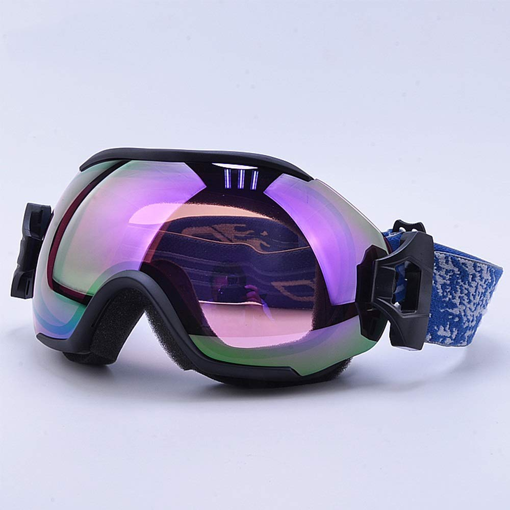Black Frame Ski Goggles Ski Goggles - PC, Double Anti-Fog, UV Filter, can be Brought into Myopia Glasses, Adult General ski and Mountaineering Coated Glasses (7 colors Available) (color   Sand Black)