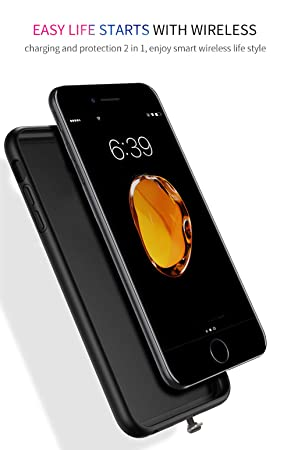 BETTERSHOPFunda Carcasa Cover Cubrir Mejor Slim con Receptor inalambrico Compatible con Dispositivos QI para I Phone 7 Cargador INALÁMBRICO DE Carga ...