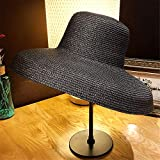 SHINING Lady Straw Hat sun hat foldable wide-brimmed hat summer beach cap hood, pot cap, vintage lampshade straw Hat