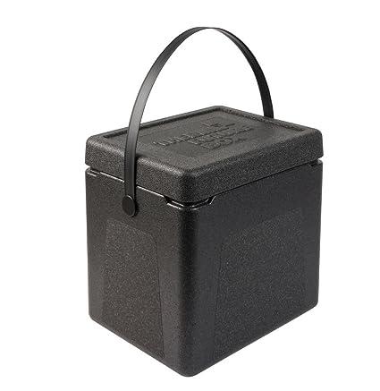 Thermo Future Box Shoppingbox Transport-und Isolierbox, EPP (expandiertes Polypropylen), Schwarz, 36 x 29 x 37 cm