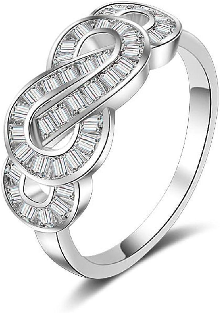 size 8-9 Black swirl ring