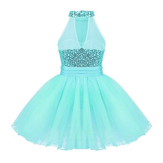 8abfe1964 YiZYiF Vestido Tutú de Danza Ballet para Niñas Maillot Largo con ...
