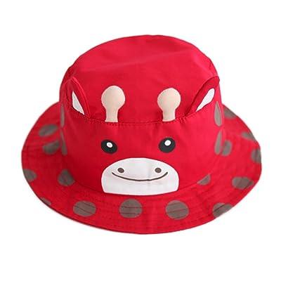 6c330baf066 TOAT Baby Infant Girl Boy Bucket Hat Brim Sun Protection Foldable Deer Cute  Cotton Dot Cap
