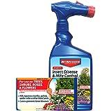 BioAdvanced 701287A Miticide Pesticide Fungicide 3-in-1 Insect, Disease and Mite Control, 32 oz
