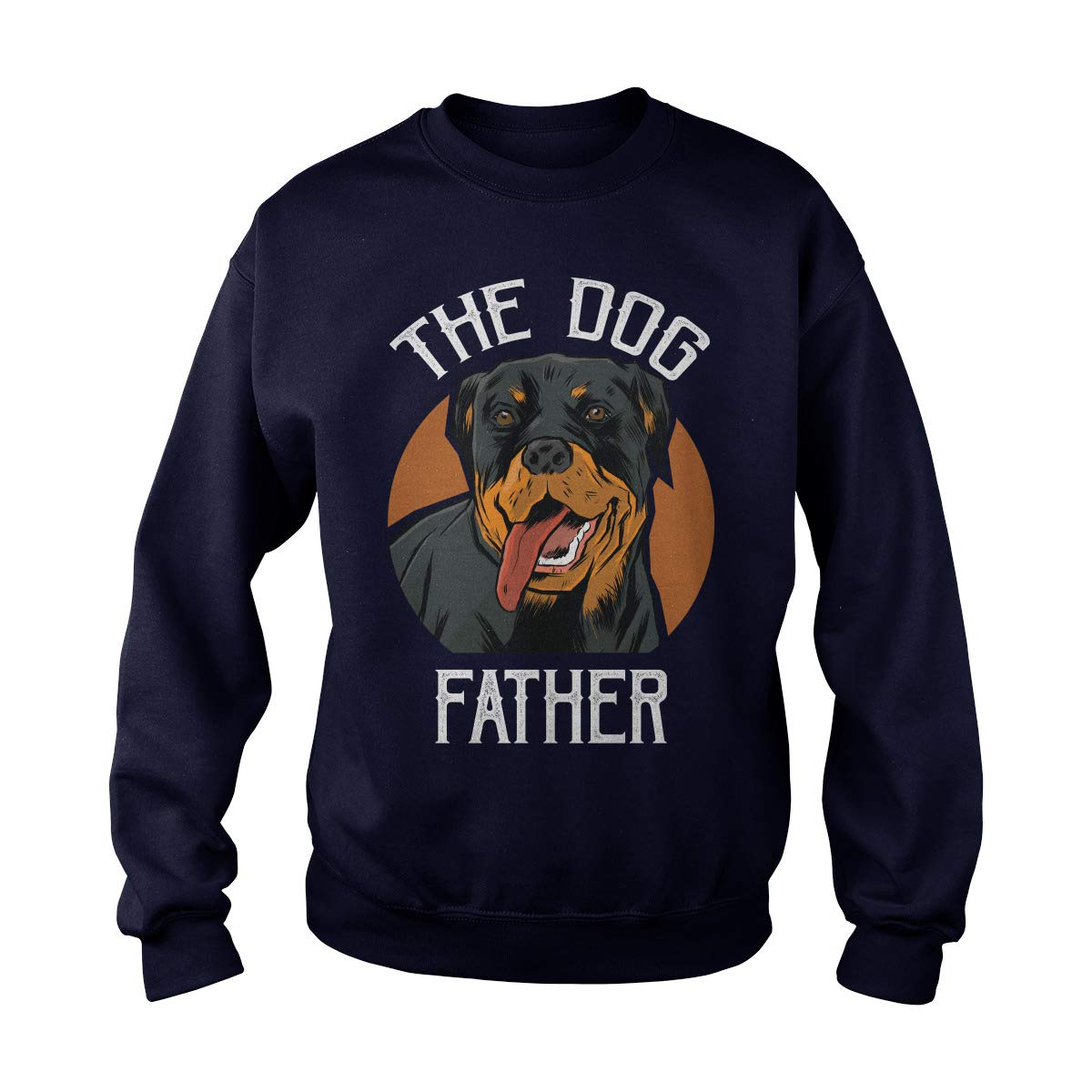 Poogky Rottweiler The Dog Father Adult Crewneck Sweatshirt