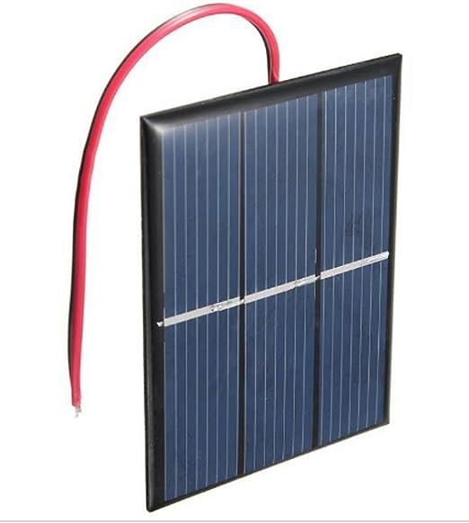 1 Stück 5V 300mA 1,5W 90x158mm Solarmodul Solarzelle Solarpanel