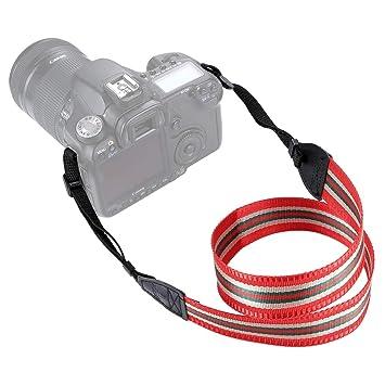 Stripe Style Series Shoulder Neck Strap Camera Strap for SLR//DSLR Cameras Durable Color : Brown
