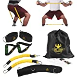 DAS Leben Bounce Trainer Jump Trainer Chest Expander Ankle Resistance Bands Set, for Basketball Volleyball Football Tennis Leg Agility Training
