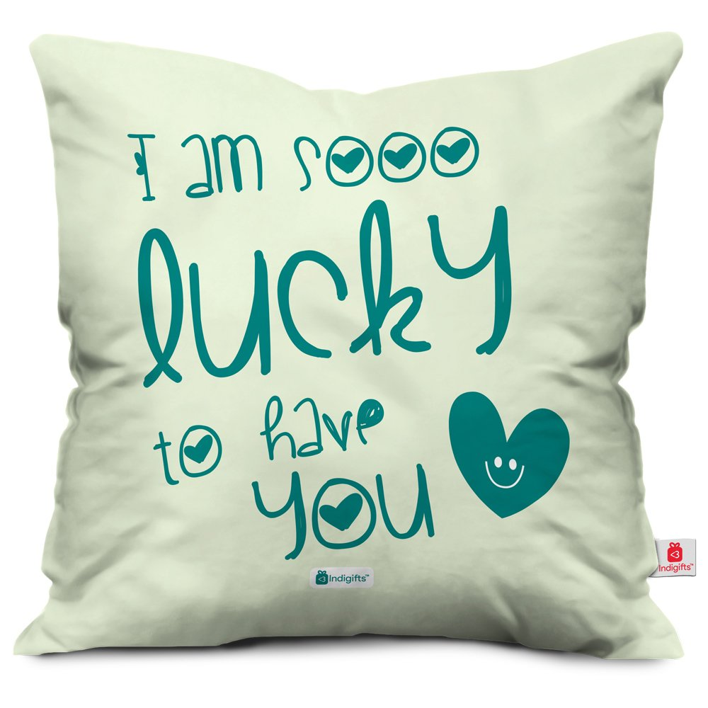 indibni Gifts for Brother Sister – Lucky To Have You Quoteオフホワイト16