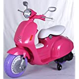 Predatour Classic 12v Electric Kids Ride on Scooter with Stabilisers (Pink)