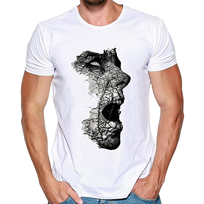 best service c0442 a198e ASHOP - T Shirt Uomo, Moda Casuale Maniche Corta T Shirt ...