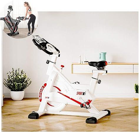 GWSPORT Bicicleta Estática, 30kg Bicicleta Spinning Exercise Bike, Resistencia Variable Ruido Bajo Monitor, Soporte para Teléfono Bicicleta De Ejercicio para Ejercicio Entrenamiento En Casa,Blanco: Amazon.es: Hogar