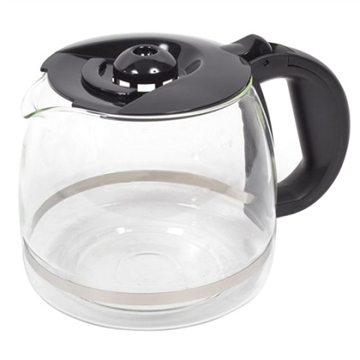 SPARES2GO Glass Jug Carafe for Russell Hobbs 18118 Coffee Machine