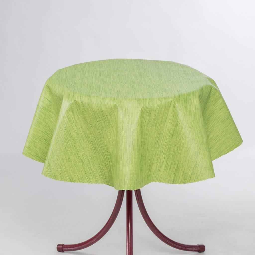 10 cm Redondo Color Verde Manzana Forma Redonda EHT g/énero al Metro Mantel de Hule para Mesa de jard/ín en Diferentes tama/ños Rectangular Mehrfahrbig