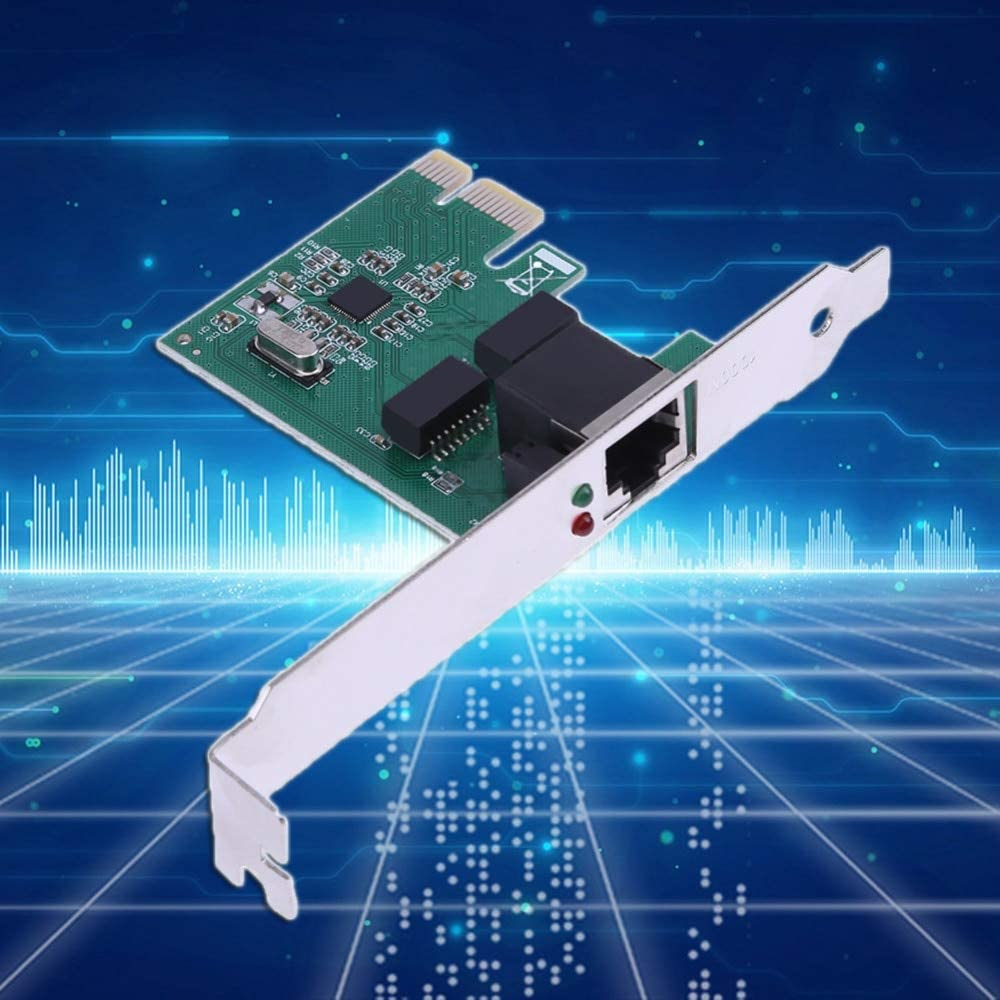 Sala-Deco PCI Express PCI-E Network Controller Card 10//100//1000Mbps Ethernet PCIe RJ45 Lan Card Adapter Converter Networking Cards