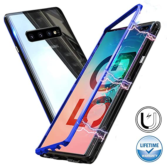 brand new 4fdcc 2473b Galaxy Note 9 Magnetic Adsorption Case,Clear Tempered Glass Hard Back Cover  [Built-in Magnets Metal Bumper Frame],360° Protection Ultra Slim Phone ...
