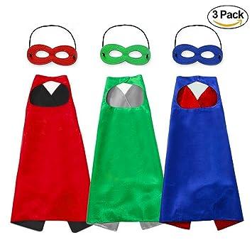 Capa y Máscaras para Fiesta cumpleaños Navidad Escolares Juguetes Capa de superhéroe Disfraces de Halloween para