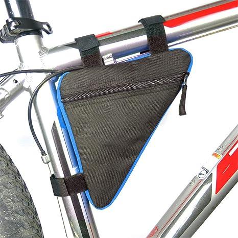 love+djl Bolsa De Bicicleta Bolsa Delantera para Bicicletas Ciclismo Bicicleta Tubo Triángulo Portacuchas Sillín Alforjas Bolsas para Bicicletas A Prueba De Agua Accesorios para Bicicletas En Blue_FR: Amazon.es: Deportes y aire libre