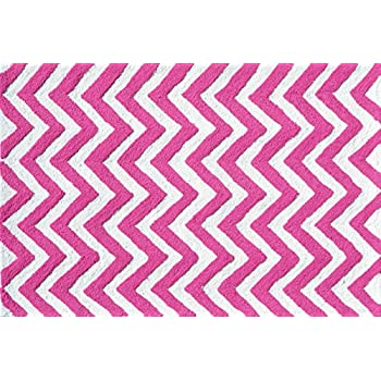 Superior The Rug Market Chevron Pink Childrenu0027s Area Rug, 2.8u0027 X 4.8u0027