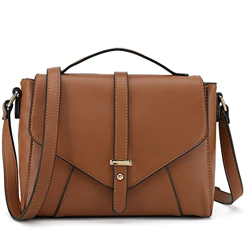 Ladies Designer Purses Cross Body Handbags Trendy Bags for Women Shoulder Bags (Brown) best stylish purses for fall