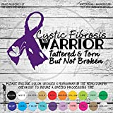 Cystic Fibrosis Warrior Awareness Ribbon Vinyl Die Cut Decal Sticker