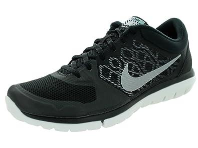 Mens Nike Flex 2015 RN Flash Running Shoe Black/Silver