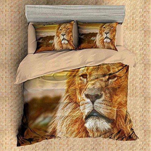 3D Personalized Design Lion Duvet Cover Set Style Microfiber Decoration Room home (Queen -Style 6)