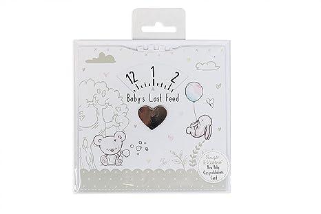 Nuevo bebé tarjeta de felicitación de bebé Last lactancia ...