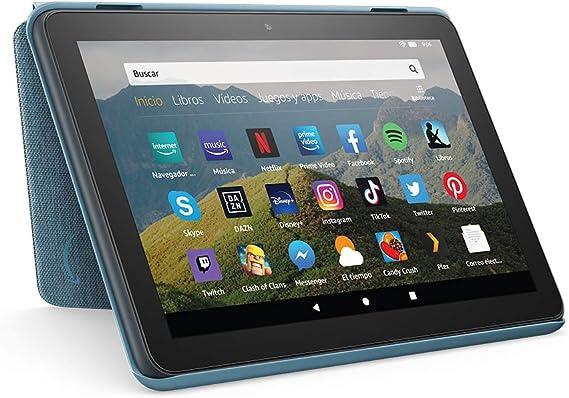 Image ofAmazon Funda para tablet Fire HD 8 (compatible con el tablet de 10.ª generación, modelo de 2020), añil