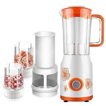XWH Máquina de cocción Multifuncional, máquina de batido de Jugo doméstico, máquina molida de Leche de Soja sin molienda Seca molida en seco,Naranja,Cm: ...