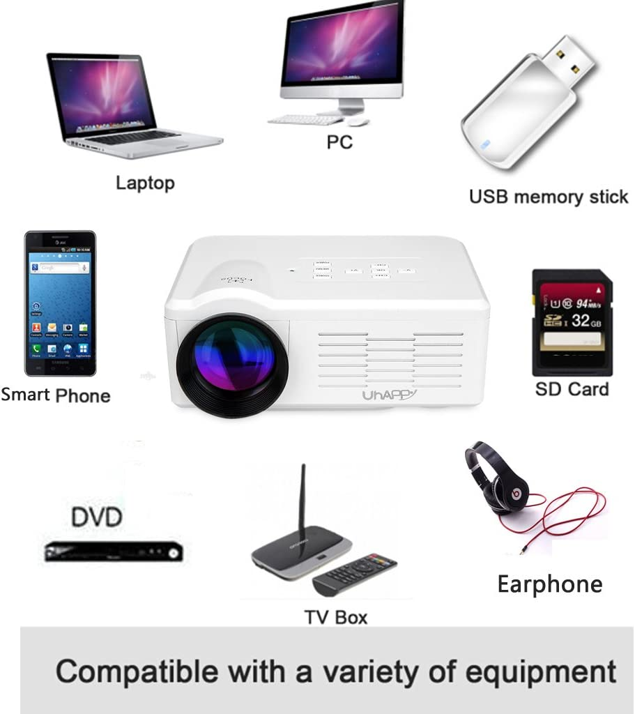 Uhappy BL35 - Mini LED LCD proyector multimedia Home Cinema ...
