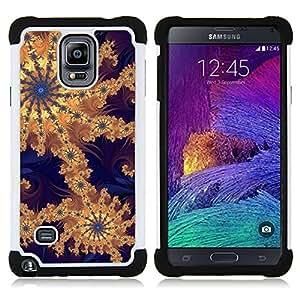 - wallpaper pattern design artwork drawing/ H??brido 3in1 Deluxe Impreso duro Soft Alto Impacto caja de la armadura Defender - SHIMIN CAO - For Samsung Galaxy Note 4 SM-N910 N910