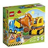Toys : LEGO DUPLO Town Truck & Tracked Excavator 10812, Best Gift for 1-4Year-Olds