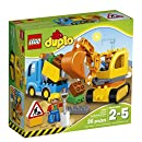 LEGO DUPLO Town Truck & Tracked Excavator 10812, Best Gift for 2-Year-Olds