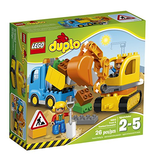 LEGO DUPLO Town Truck & Tracked Excavator 10812, Best Gift for 1-4Year-Olds (Gifts 1)