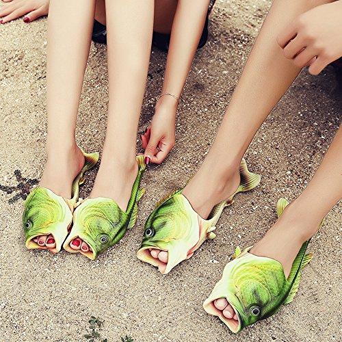 Sandalen Damen Herren Witzige Hausschuhe Fisch Schwimmbad Für Und Gr34 44 Personalisierte Strand Kreative Flip Flops Kinder FKJc31uTl