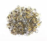 yueton 100 Gram (Approx 1650pcs) Mixed Color and Size Assorted Antique Jump Ring Connector Link for Crafting,...