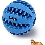 Voyage Hundespielzeug Ball Natur-Gummi Hunde Spielzeug mit Dental Zahnpflege Funktion 7cm