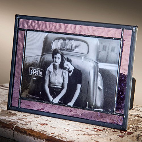 J Devlin Purple Stained Glass 4x6 and 5x7 Horizontal or Vertical Photo Frame (4x6) (Purple Stained Glass)