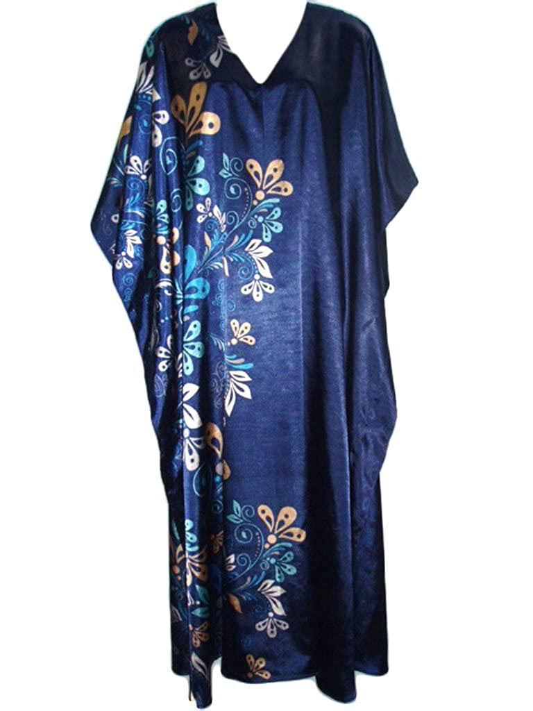 Art Deco Dresses | Art Deco Fashion, Clothing Up2date Fashion Pretty Caftan with Midnight Floral Vines One Size Style-Caf-60 $14.99 AT vintagedancer.com