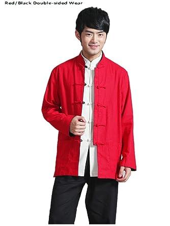 Amazon.com: cotton-flax Tang trajes doble cara desgaste ...