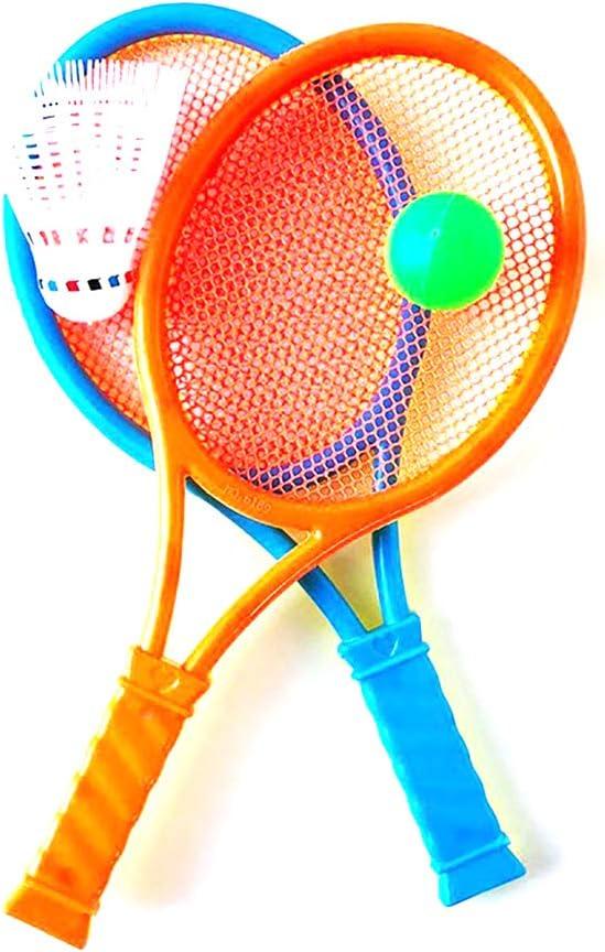 Wilk 1 Juego de Tenis Raqueta de bádminton de Juguete para ni?os Raquetas de Tenis y la Bola Puesta ni?os Jugar al Juego de Juguete (Color al Azar)