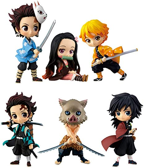 Demon Slayer PVC Action Figures Tanjirou Nezuko Anime Kimetsu No Yaiba Figurine Model Toys