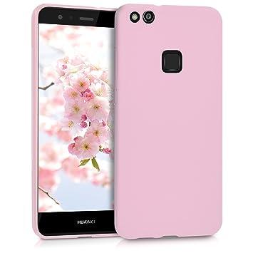 kwmobile Funda compatible con Huawei P10 Lite - Carcasa de [TPU silicona] - Protector [trasero] en [rosa palo mate]